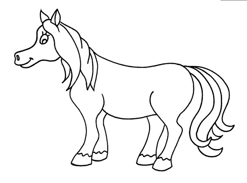 Kindergarten Coloring Pages Free Horse