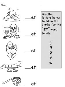 Kindergarten phonics practice worksheet 3