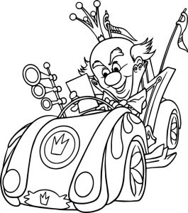 King candy racing coloring page