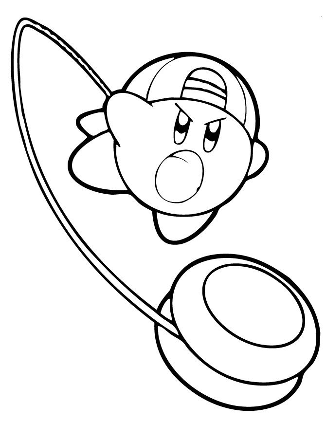Kirby Coloring Pages For Kids 001