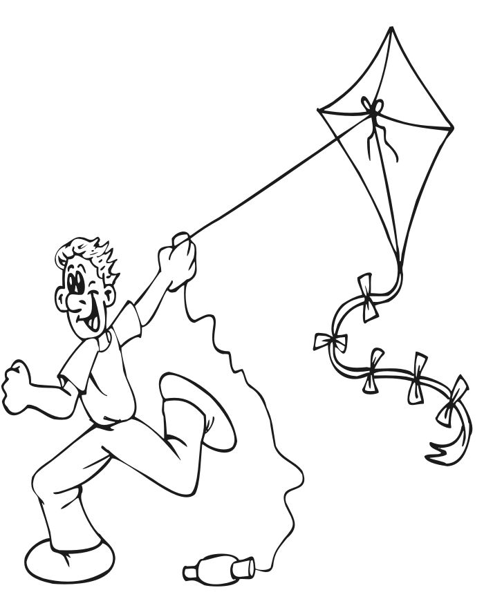 Kite Coloring Pages For Kids