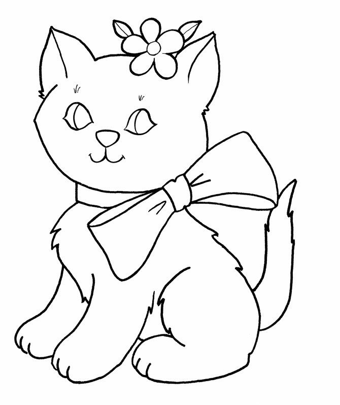 Kitten Coloring Pages For Girls 001