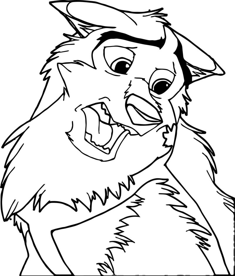 Kodi In The Style Of Balto I Wolf Coloring Page