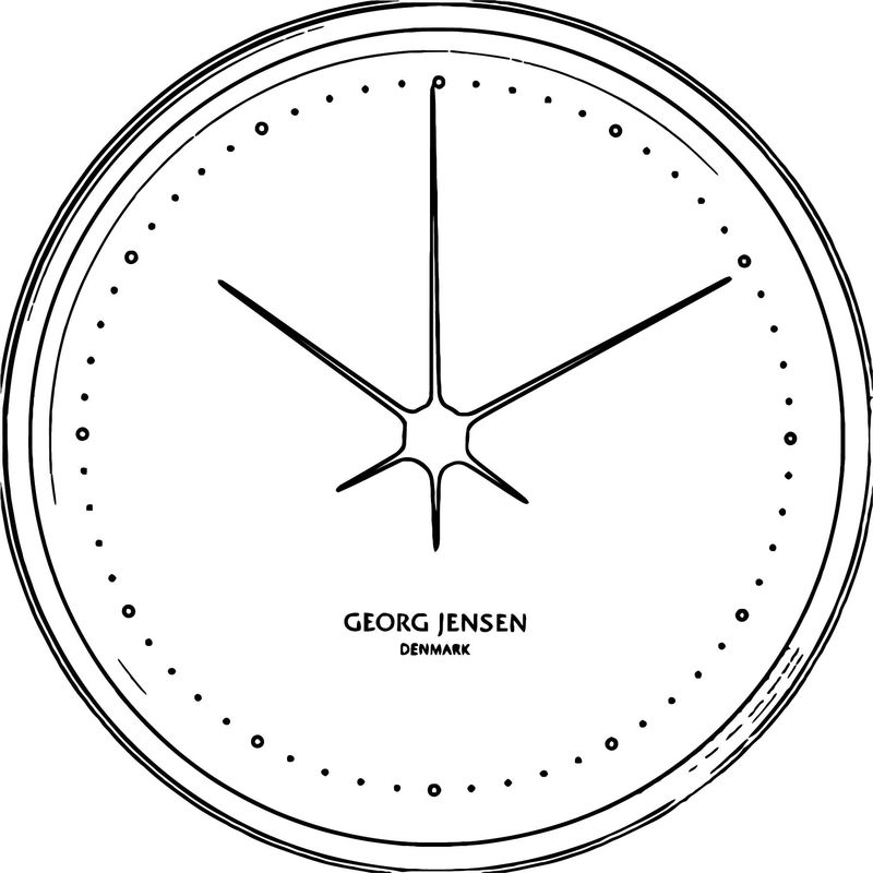 Koppel 15 Cm Wall Clock Stainless Steel Black With White Di Free Printable Al Cartoonized Free Printable Coloring Page