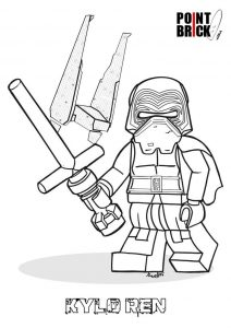 Kylo ren lego star wars coloring pages