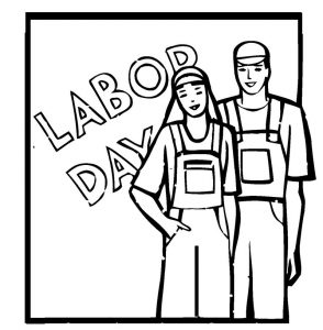 Labor day coloring page printable