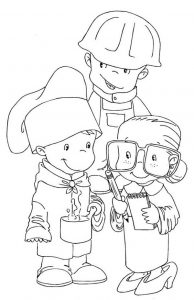 Labor day coloring pages dressup