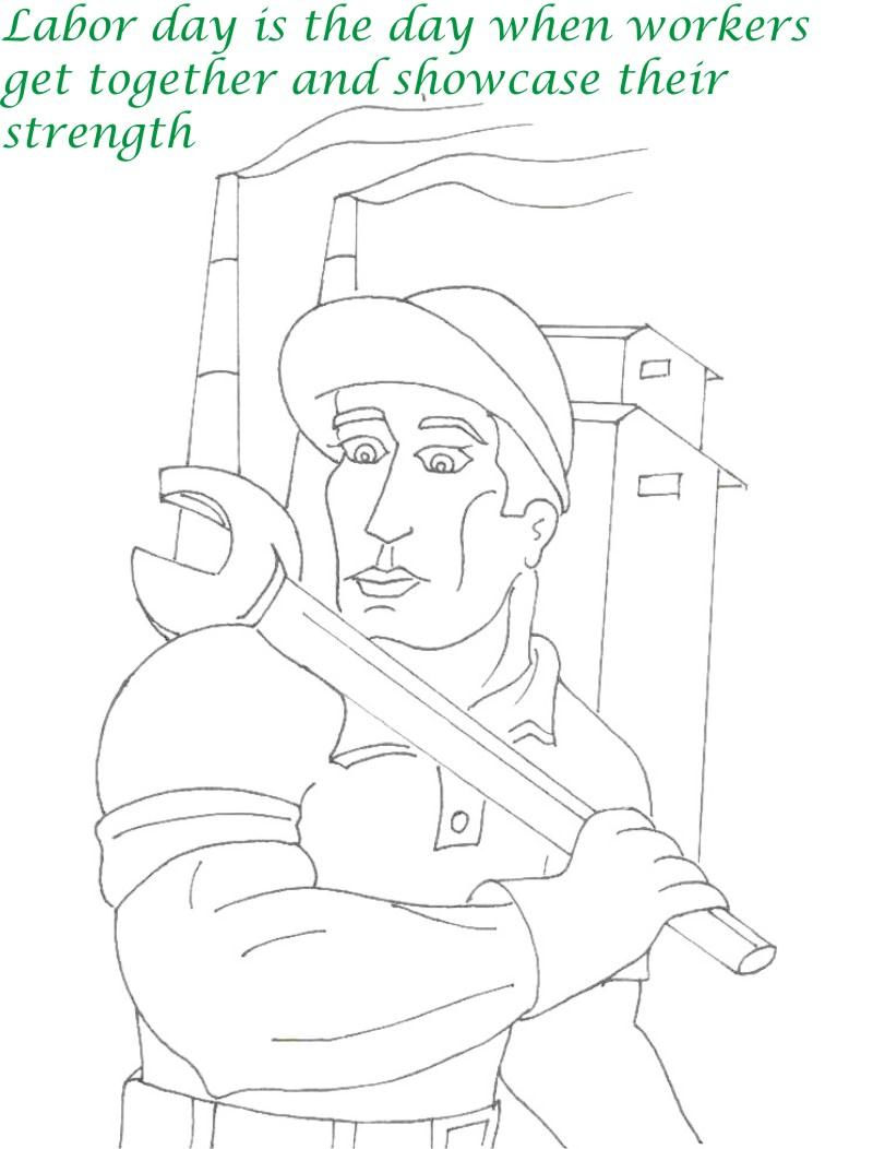 Labor Day Coloring Pages Workers Strength