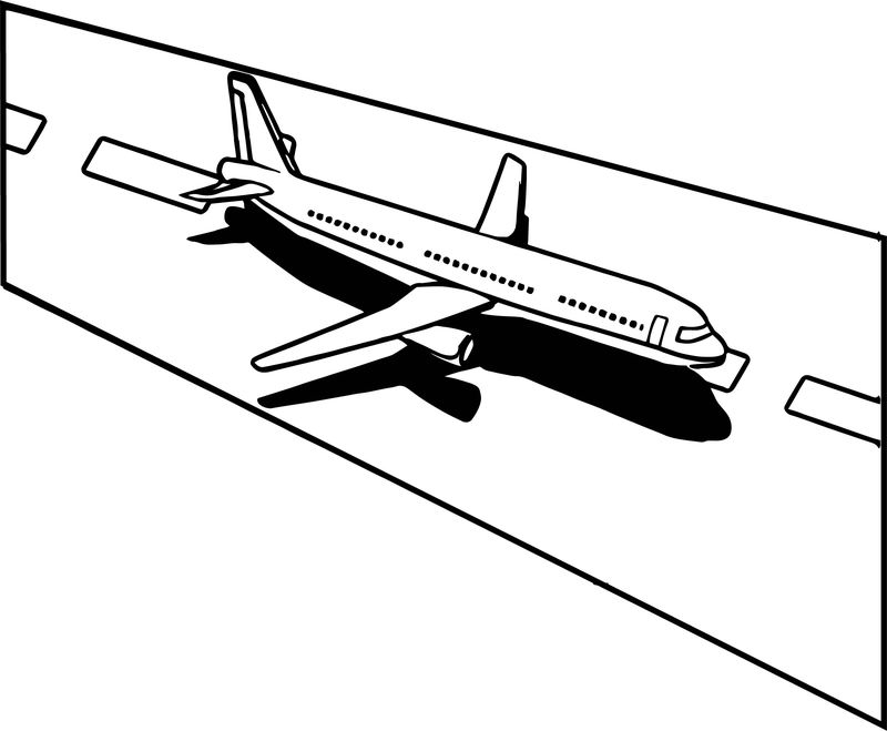 Land An Airplane In An Emergency Coloring Page