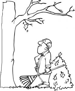 Last leaf in fall coloring page