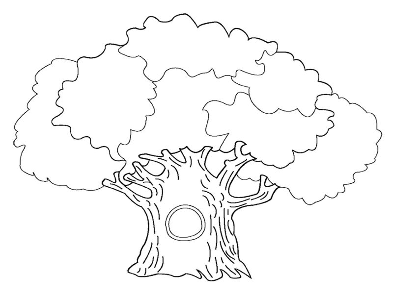 Leaf Coloring Page Tree