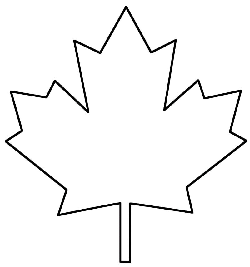 Leaf Coloring Pages Canadian Maple 001
