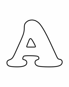 Learning letter a preschool coloring pages