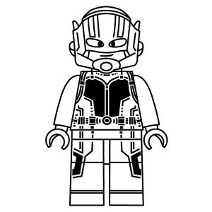 Lego ant man coloring page