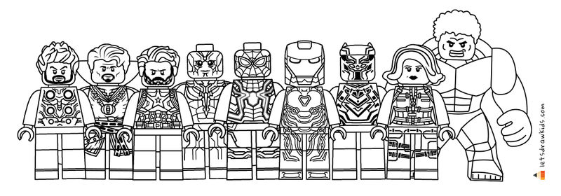 Lego Avengers Coloring Pages Infinity War