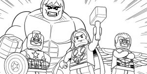 Lego avengers coloring pages printable