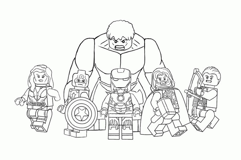 Lego Avengers Coloring Pages 1