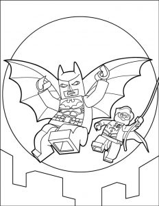 Lego batman coloring pages 001
