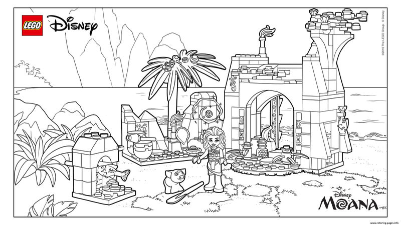 Lego Disney Moana Coloring Pages