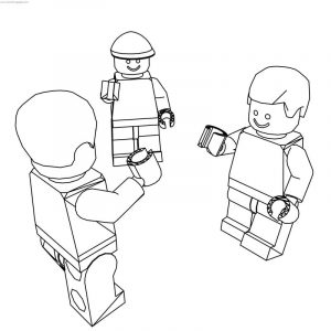Lego friends talking coloring page
