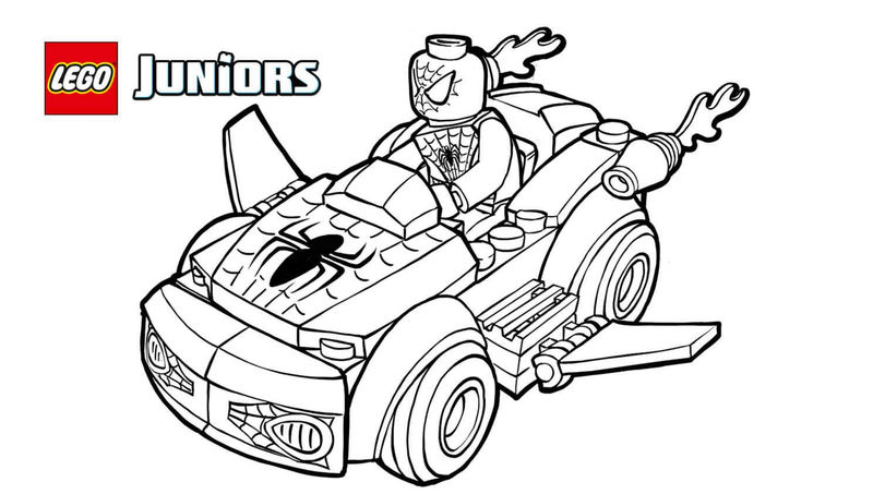 Lego Junior Spiderman Avengers Coloring Pages