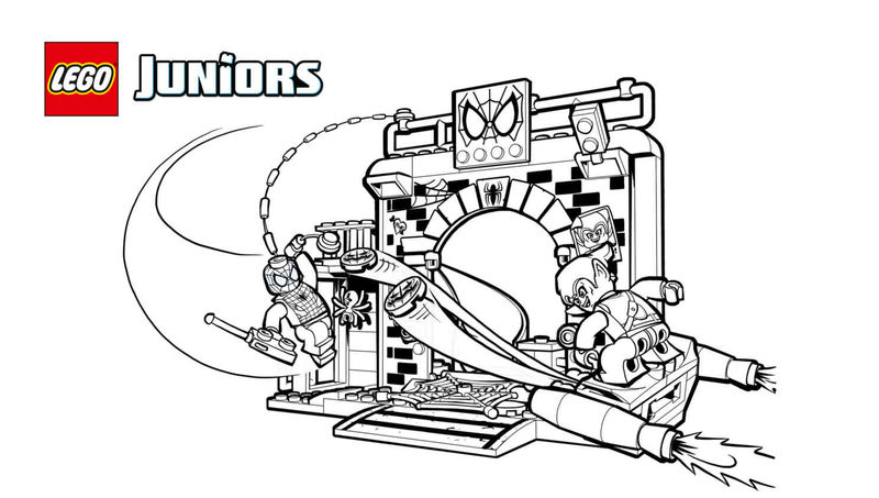 Lego Juniors Spiderman Coloring Pages