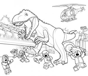 Lego jurassic world printable coloring pages