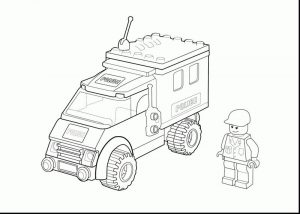 Lego police vehicle coloring pages