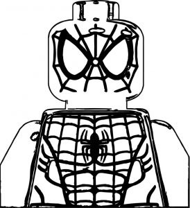 Lego spiderman face coloring pages