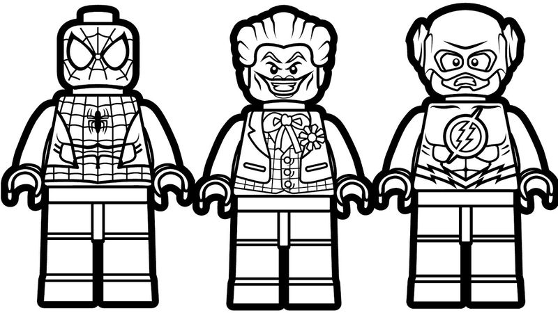 Lego Spiderman Joker Flash Coloring Pages Coloring Sheets