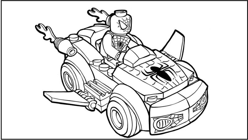 Lego Spideycar Coloring Pages