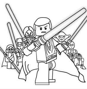 Lego star wars coloring pages 001