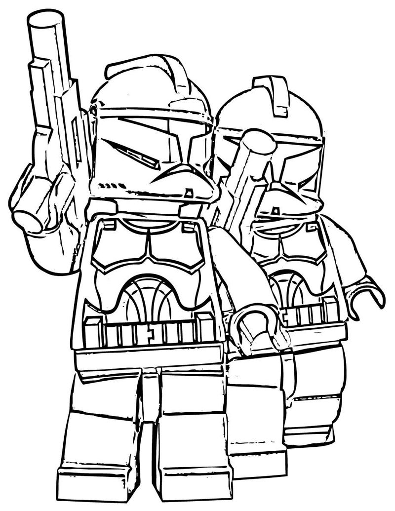 Lego Star Wars Coloring Pages Free 002