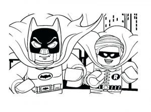 Lego superhero coloring pages batman and robin