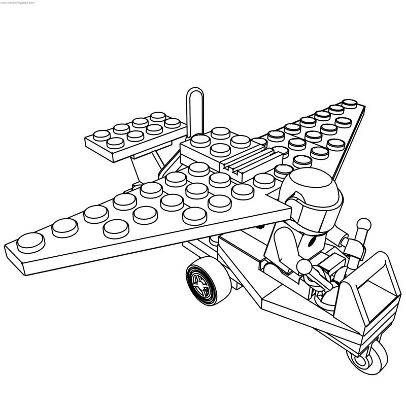 Lego Ultralight Airplane Coloring Page