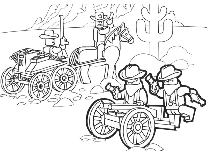 Lego Wild West Lego Coloring Pages 001