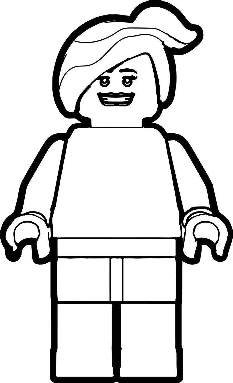 Lego Woman Coloring Page
