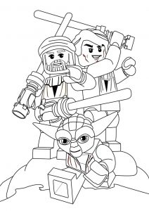 Lego yoda star wars coloring pages