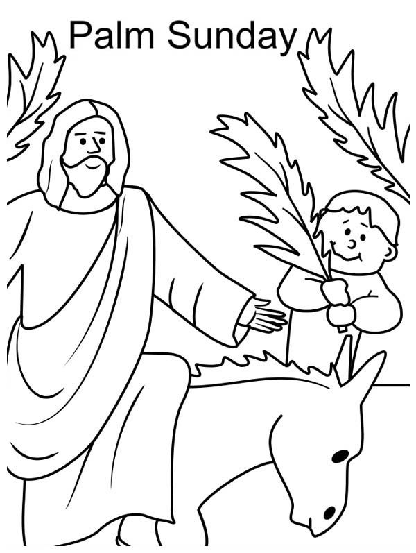 Lent Coloring Pages Palm Sunday