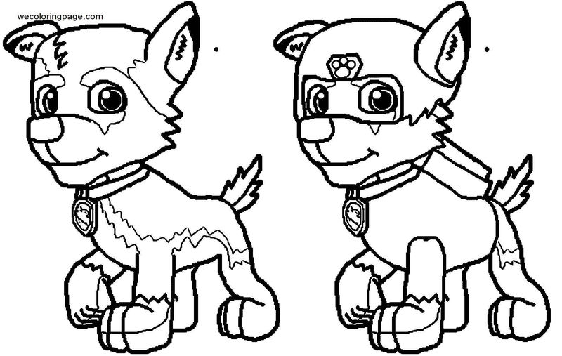 Leon The Paw Patrol Pup Wolf Prince Leon Diy Coloring Page