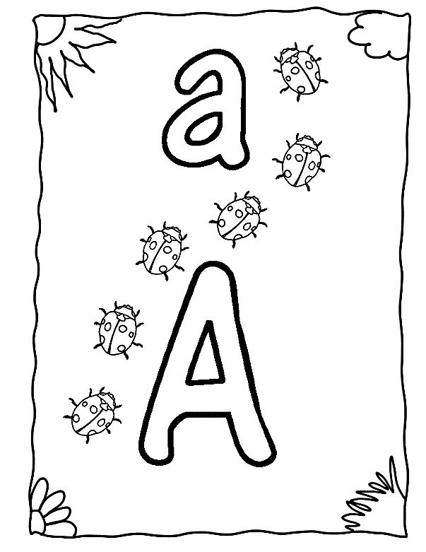 Letter A For Kids Reading 001