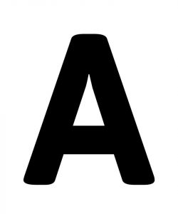 Letter a photo bold 001