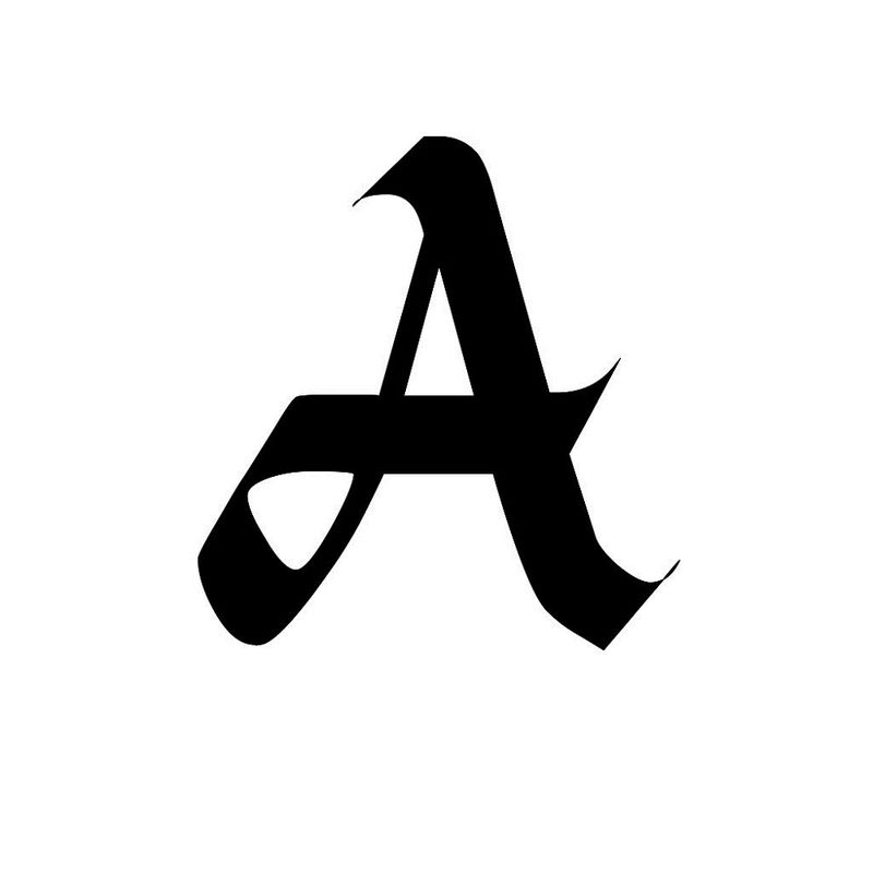 Letter A Photo Calligraphy 001