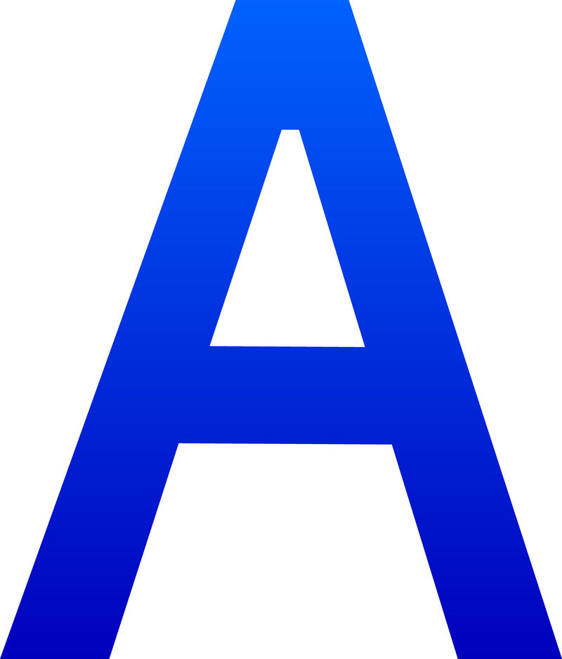 Letter A Photo Clip Art 001