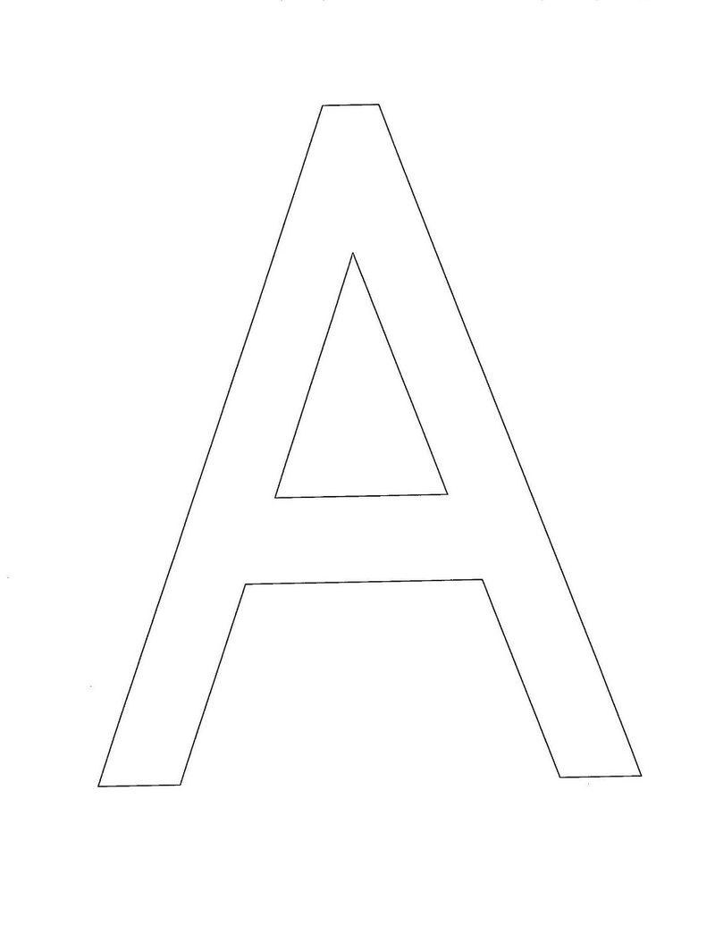Letter A Photos To Print 001