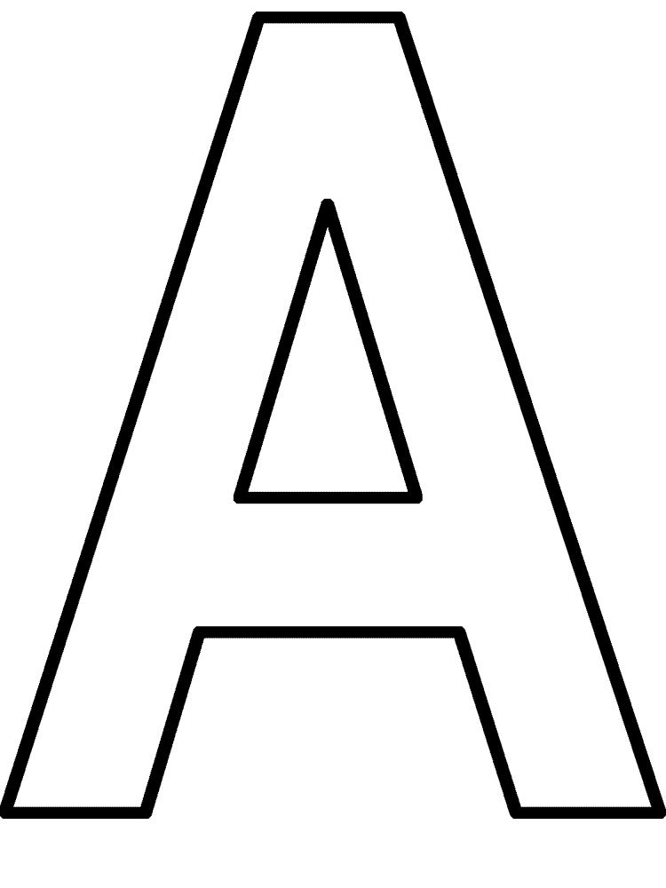 Letter A Printable 11 001