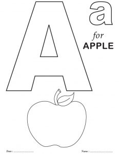 Letter a printable 3 001
