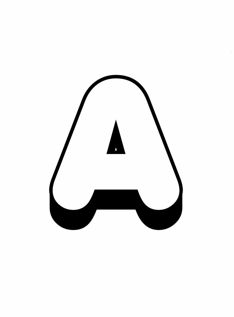 Letter A Printable Cute
