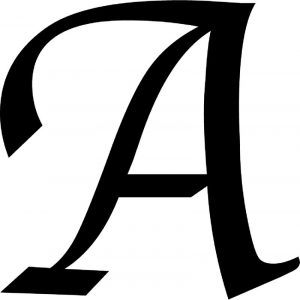 Letter a printable template
