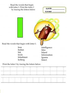 Letter i worksheets fun